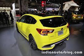 subaru yellow subaru impreza future sport concept 2017 tokyo motor show left