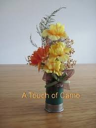 Gun Vase Shot Gun Shell Boutonniere Camo Wedding