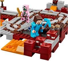 lego minecraft 21130 the nether railway building set lego amazon