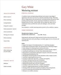 Assistant Marketing Manager Resume Sample 27 Marketing Resume Templates In Pdf Free U0026 Premium Templates