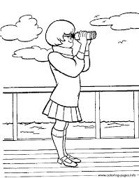 scooby doo printable coloring pages velma spying scooby doo 711b coloring pages printable