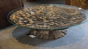 Waterfall Glass Coffee Table by Brilliant Unique Round Coffee Tables With Table Unique Round