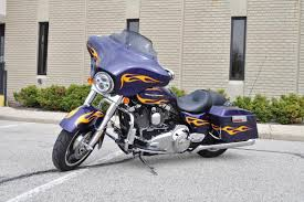 2012 harley davidson street glide flhx deep purple with flames