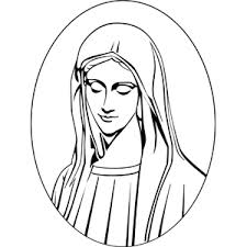 mary portrait coloring page