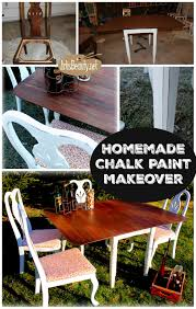 Homemade Kitchen Table by Art Is Beauty Homemade Chalk Paint Dining Set