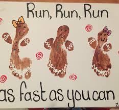 gingerbread man footprints christmas art pinterest