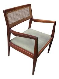 Cane Back Dining Room Chairs Jens Risom C140 Playboy Cane Back Arm Chair Chairish