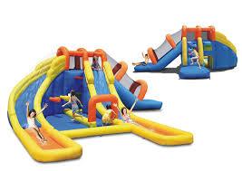 amazon com big splash dual water slides and pool water park toys