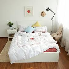 New York Bed Set 100 Cotton New York Bedding Set Bed Sheet White Duvet Cover