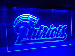 new england patriots lights new england patriots soccer led neon light sign home decor crafts