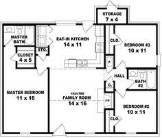 3 bedroom home floor plans 44 by 24 house plans ranch house plans from the house designers