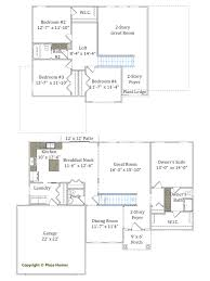 2 Story Great Room Floor Plans by Two Story Homes Place Homes