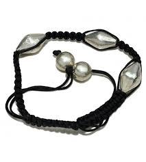 black thread bracelet images Never give up black thread plain silver 925 sterling silver JPG