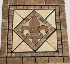 kitchen medallion backsplash 18 noce marble fleur dis lis mosaic medallion design backsplash