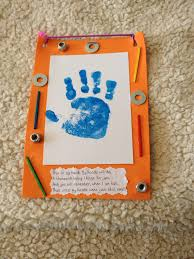 father u0027s day toddler craft made with a foam frame painted