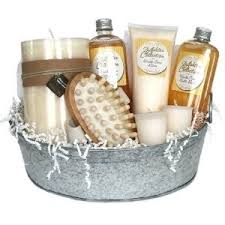 bath gift baskets pering vanilla bath spa gift basket with candles