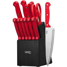 essential kitchen knives ginsu essential series 14 stainless steel serrated knife set