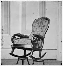 Early American Rocking Chair Shocker There U0027s A Confederate Flag Sewn Into Lincoln U0027s Chair At