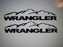 jeep wave stickers jeep wrangler unlimited fender decals with mountains yj jk tj