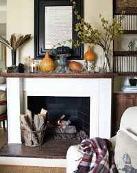 Mantel Fireplace Decorating Ideas - 87 exciting fall mantel décor ideas shelterness