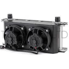 oil cooler with fan 16 row oil cooler shroud kit