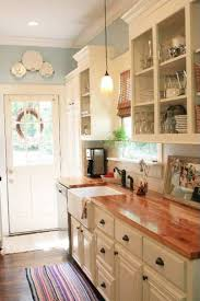 kitchen countertop options butcher block with white cabinets