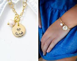 flower girl charm bracelet flower girl bracelet etsy