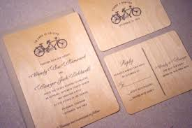 wedding invite ideas 21 original wood wedding invitation ideas weddingomania