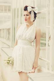 ivory short 1950s inspired mini wedding dress short wedding