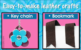 easy leather crafts for kids that are attractive and useful too
