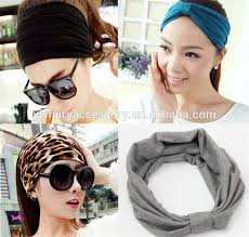 headband styler fashion cotton turban headband elastic sports wide women