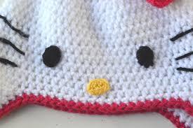 crochet color kitty hat pattern