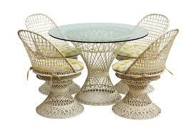 Woodard Patio Tables by Russell Woodard Spun Fiberglass Patio Set Chairish
