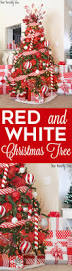 2016 red u0026 white christmas tree