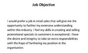 Retail Job Objective For Resume by Objective Quotes Like Success