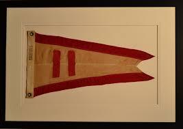 Custom Burgee Flags Rare Antique Yacht Racing Pennant Swallowtail Burgee Pinterest