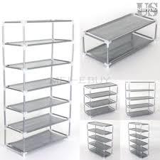 Metal Storage Shelves Stackable Shelves Ebay