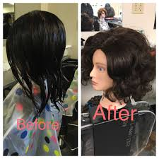 pixie hair cuts on wetset hair before and after wet set and styled perfect style for older women