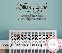 Nursery Sayings Wall Decals Baby Nursery Wall Sayings Nursery Wall Quotes Baby Name