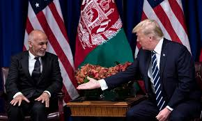 Taliban Flag Trump Pushing Afghan President For Closure Of Taliban Office In