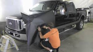 Ford Camo Truck Wraps - ford f350 matte black wrap skin with 3m 1080 vinyl v epic