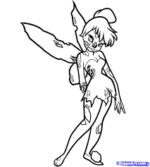 how to draw zombie tinkerbell zombie tinkerbell step