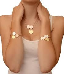 gold engraved necklace akalis engravable single disc gold pendant necklace at i designer