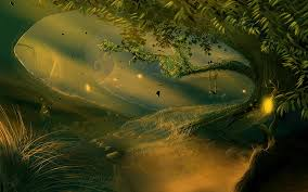 Forest Mural by Enchanted Forest Mural Wallpaper Fantasy Enchanted Forest