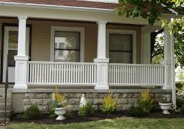 craftsman porch railing  Porch With Pillars …  Arts  Crafts