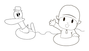 pocoyo coloring images reverse