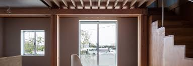 interior home columns ft architects u0027 4 columns house features a traditional timber frame