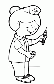 nurse coloring pages free print education doctor coloring