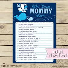 who knows baby shower whale baby shower who knows best printable boy