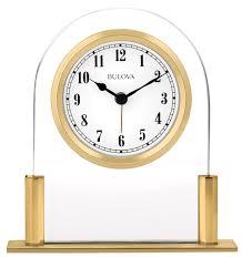 desk alarm clock colburn alarm clock by bulova engravable clocks